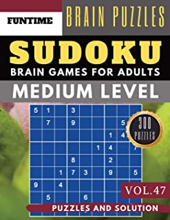 Sudoku Medium: Jumbo 300 SUDOKU medium puzzle books with answers brain games for adults Activity book (sudoku medium puzzle books Vol.47)