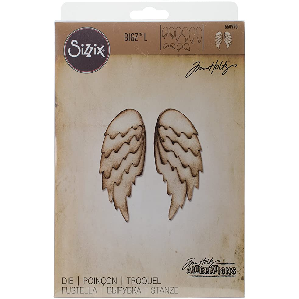 Sizzix 660990 Bigz L Die Feathered Wings by Tim Holtz