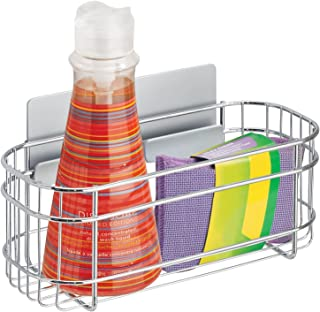 mDesign AFFIXX organizer kuchenny do mycia płynów, gąbek i więcej - samoprzylepny stalowy kosz do przechowywania - idealne...