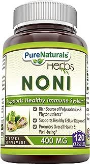 Pure Naturals Noni Capsules, 400 Mg, 120 Count