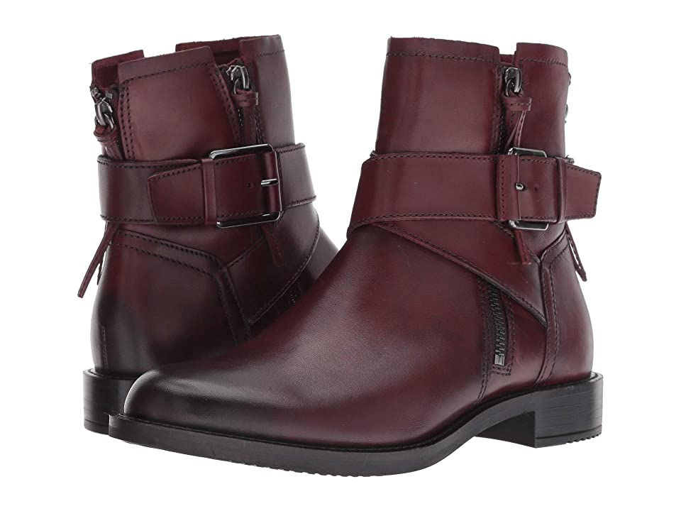 ECCO Shape 25 Buckle Boot (Bordeaux Full Grain Leather) Women