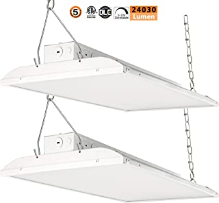 2Pack Linear LED High Bay Light,178W 2FT 0-10V Dimmable [300W-800 Equivalent] 24250lm 5000K Daylight IP44 Industrial Grade Warehouse Hanging Light Workshop Lamp cETLus Listed 178W-2Pack