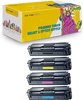 New York TonerTM New Compatible 4 Pack Samsung CLT-K504S CLT-M504S CLT-C504S CLT-Y504S High Yield Toner for Samsung - CLP-415NW | CLX-4195FW | CLP 470 | 475 . -- Black Yellow Magenta Cyan