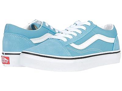 Vans Kids Old Skool (Big Kid) (Delphinium Blue/True White) Kids Shoes