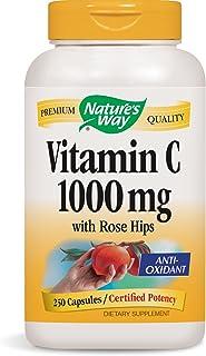 Vitamin C 1000 mg with Rose Hips; 1000 mg Vitamin C per Serving; 250 Capsules