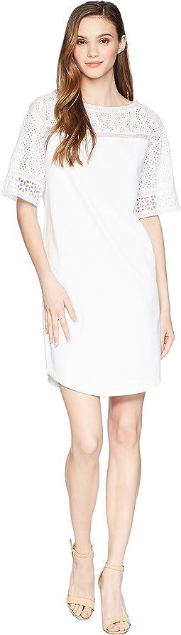 LAUREN Ralph Lauren - Eyelet Jersey Dress