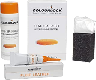 Colourlock Leather Fresh Dye 150 ml & Fluid Leather Filler to Repair Scuffs, Colour damages, Light Scratches on Side Compatible with Mercedes Anthrazit/Anthracite
