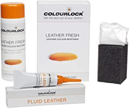 Colourlock Leather Fresh Dye 150 ml & Fluid Leather Filler to Repair Scuffs, Colour damages, Light Scratches on Side bolsters and car interiors Compatible with BMW Savannah Beige