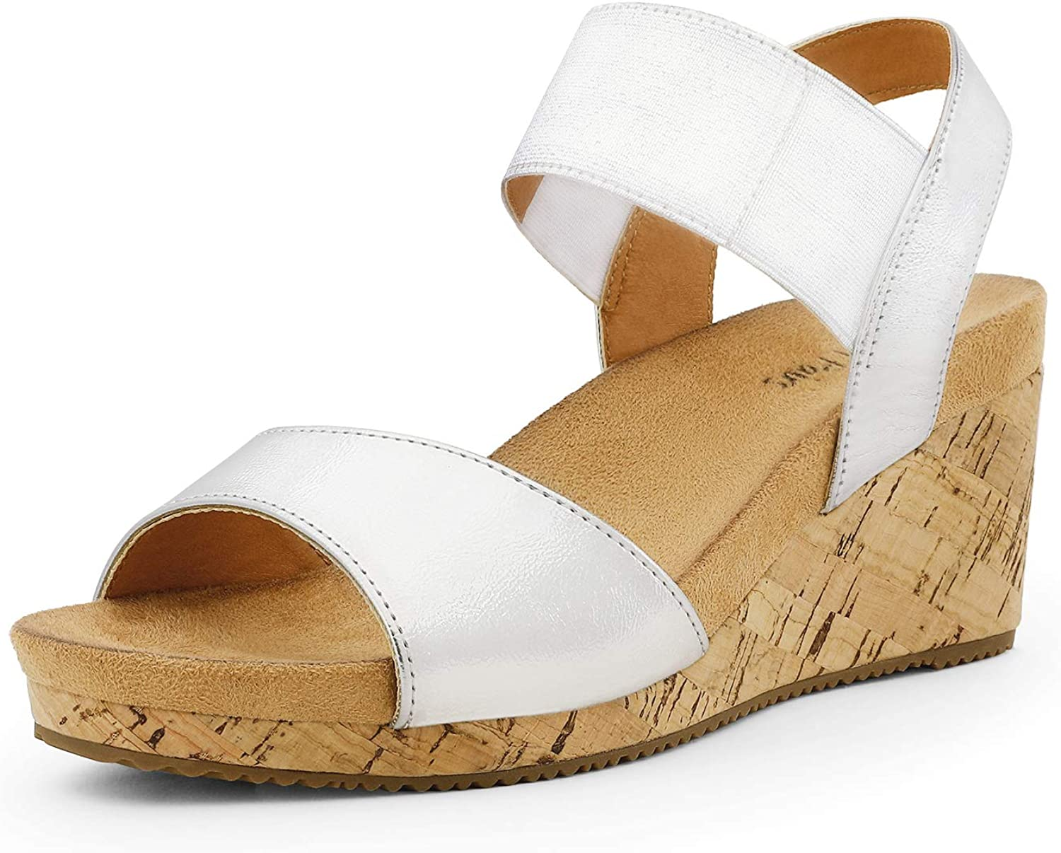 gift DREAM PAIRS Women's Open Toe Buckle S Excellence Ankle Wedge Strap Platform