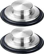 """Fengbao 2PCS Kitchen Sink Stopper - Stainless Steel, Large Wide Rim 3.25"""" Diameter"""
