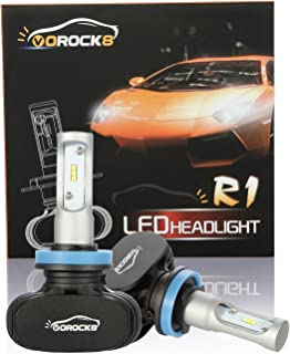 R1 CSP Seoul H11 H8 H9 H16 8000LM LED Headlight Conversion Kit, High Beam Low beam headlamp, Fog Driving Light,Halogen Head light Replacement, Fanless design,6500K Xenon White, 1 Pair