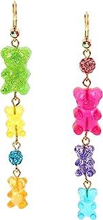Women's Gummy Bear Linear Mismatch Earrings, Multi, One Size