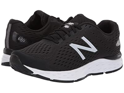 New Balance 680v6 (Black/Silver Metallic) Men