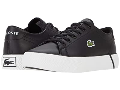 Lacoste Kids Gripshot 0120 2 CUJ (Little Kid/Big Kid) (Black/White) Kid