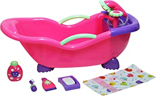JC Toys for Keeps! Baby Doll Bathtub and Accessories with Real Working Shower Fits Most Dolls Up to 17