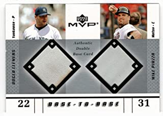 Roger Clemens - Mike Piazza (Baseball Card) 2003 Upper Deck MVP Base To Base Jersey # BB-CP NM/MT