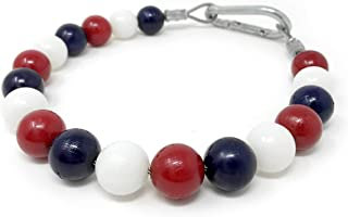 Flagpole Retainer Ring Beaded Red/White/Blue Keep Flag Close to Pole USA Made Internal Halyard (15