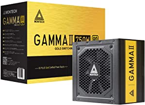 Montech Gamma II Power Supply 650W 80+ Gold Certified PSU, LLC+DC to DC Technology, Full Japanese Capacitors, 120mm Silent...
