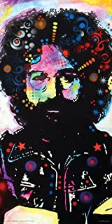 Culturenik Dean Russo Jerry Garcia Modern Art Decorative Poster Print 12x24