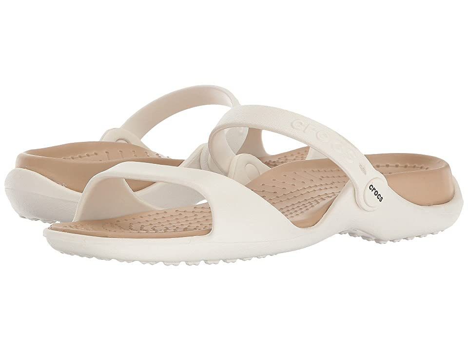 Crocs Cleo (Oyster/Gold) Women