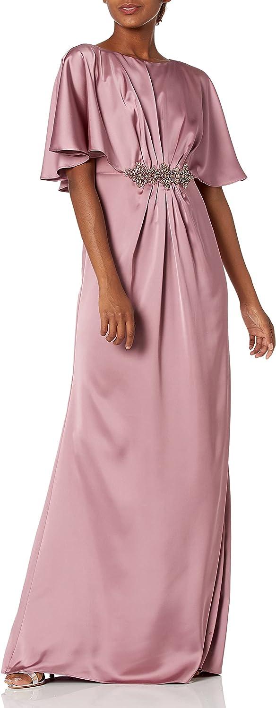 Adrianna Papell Women's Draped Cape Long Dress