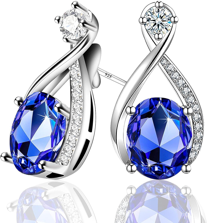 September New product Birthstone Menton Ezil online shop Nobile 18K Stud Earrings White