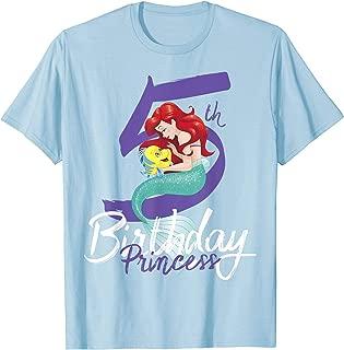 Little Mermaid Ariel 5th Birthday Princess T-Shirt
