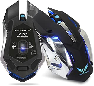 Glamorous Luminous Game Mouse 2.4 GH Charging Built-in 600 mA (Black)