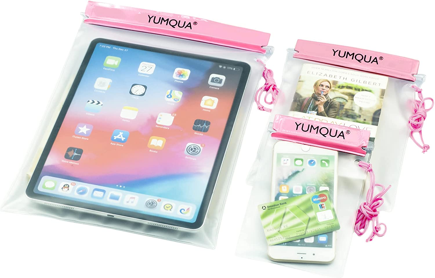 YUMQUA New arrival Clear Waterproof Max 45% OFF Bags Water Tight f Pouch Cases Dry