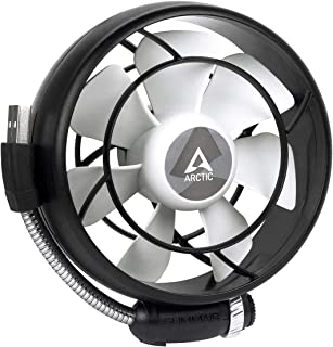 ARCTIC Summair Light - Portable USB Fan for Office I Desktop Fan Cooler for Computer, Laptop, Macbook I Silent Fan - Black (Renewed)