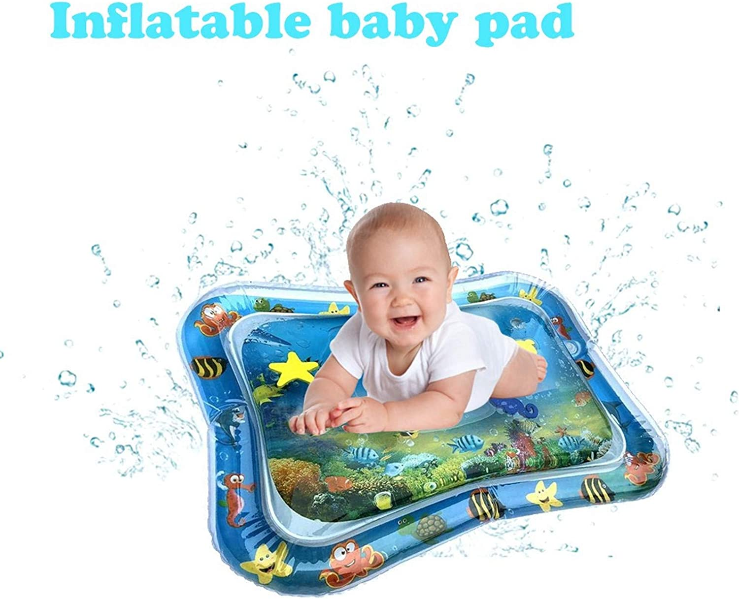 Baby Tummy-Time Water Mat Infant Water Play Mat Sensory Water Playmat Pad for 3 6 9 Months Newborn Toddler Boys Girls Kids Perfect Indoor Activity Centers Fun Game Gift