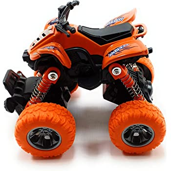 Cartup Unbreakable Diecast Mini Monster Truck, Pull Back Mechanism with Rubber Tyre and Jumper, Mini Rock Crawler Vehicle