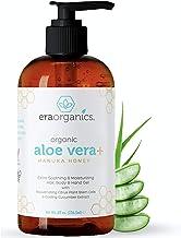 Era Organics Aloe Vera Gel - Pure Aloe Vera Gel Plus Soothing Citrus Plant Stem Cell & Manuka Honey, Best Skin Care For Bo...