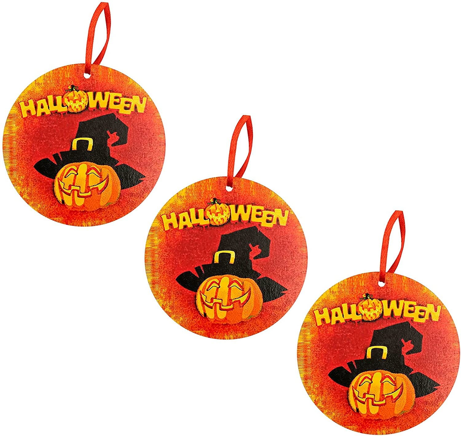 Halloween Round Wooden Decoration Super beauty product restock quality Classic top H Funny Holiday Listing