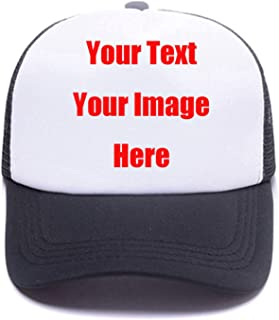 5c55bc9468c Custom Snapback Trucker Hats with Your Saying Unisex Funny Breathable Mesh  Sports Baseball Caps Mom Dad