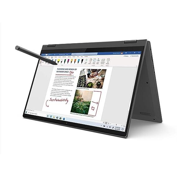 Lenovo IdeaPad Flex 5 10th Gen Intel Core i5 14-inch FHD IPS 2-in-1 Touchscreen Laptop (8GB/512GB SSD/Win 10/Office 2019/Lenovo Digital Pen Stylus/Fingerprint Reader/Graphite Grey/1.5Kg), 81X10088IN