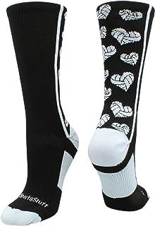 MadSportsStuff Crazy Love Volleyball Hearts Crew Socks
