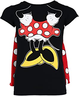 Girl's Minnie Mouse Short Sleeve Tee Shirt with Cape