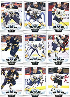 2019-20 O-Pee-Chee Hockey Buffalo Sabres Team Set of 16 Cards: Linus Ullmark(#34), Marco Scandella(#39), Rasmus Dahlin(#78), Rasmus Ristolainen(#91), Carter Hutton(#221), Jeff Skinner(#230), Kyle Okposo(#250), Jason Pominville(#302), Vladimir Sobotka(#306), Zemgus Girgensons(#329), Sam Reinhart(#379), Brandon Montour(#392), Zach Bogosian(#405), Jack Eichel(#412), Conor Sheary(#414), Casey Mittelstadt(#473)