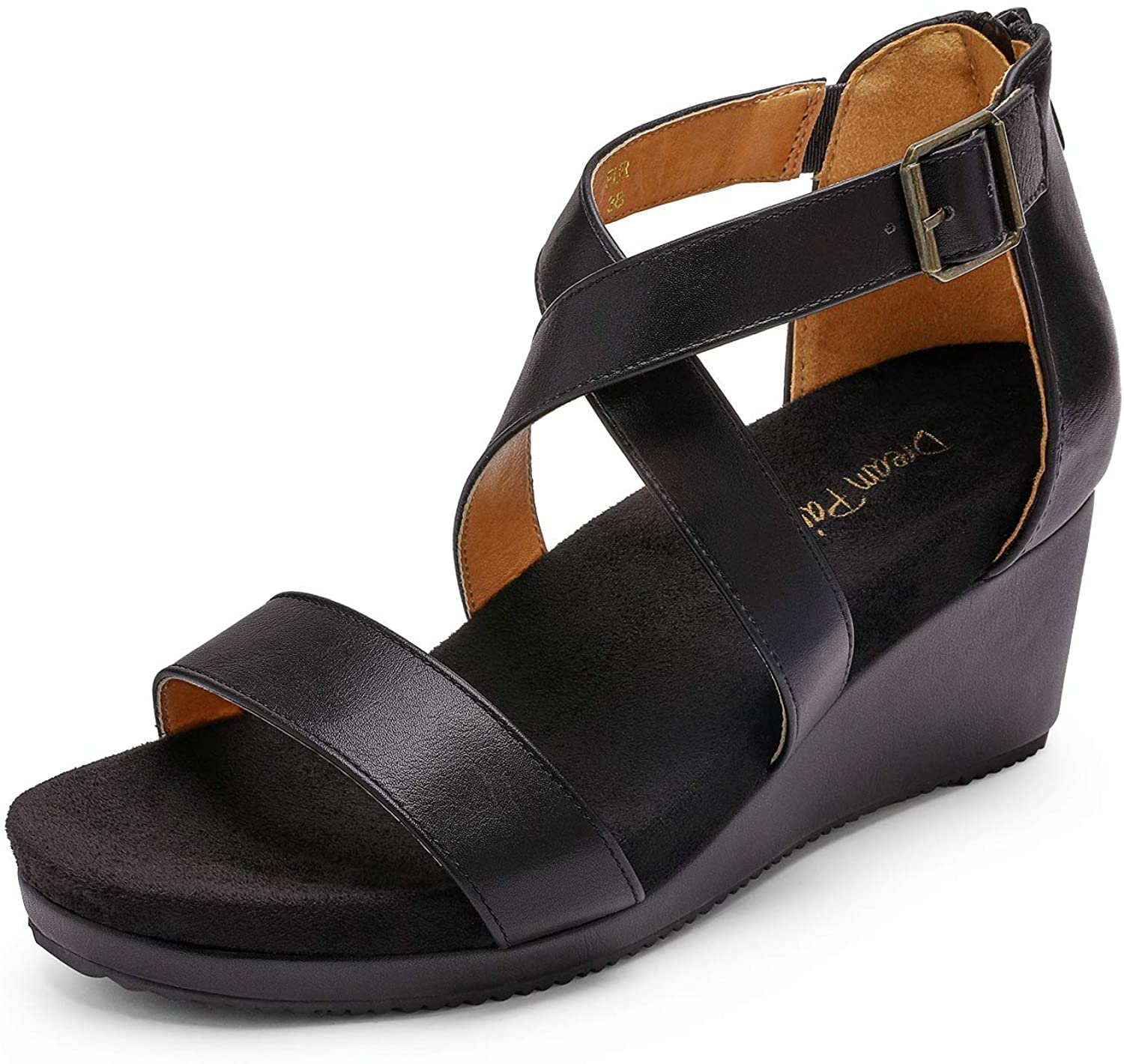 DREAM PAIRS Women's Open Toe Summer Ankle Strap Cheap mail order sales Max 57% OFF Buckle Platform