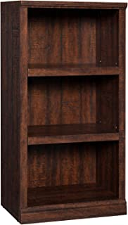 VASAGLE 3-Tier Bookcase, Wooden Bookshelf with Height Adjustable Shelves, Storage Cabinet for Books, Photos, CDs, Decorations, in Home Study, Living Room, Office, Library, Walnut Color ULBC16BY
