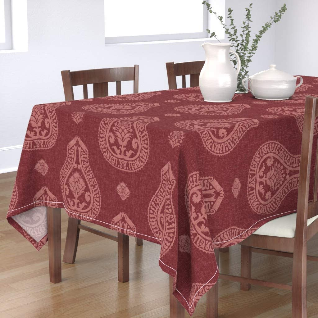 Roostery Tablecloth Merlot Medallion Print Floral C Historical Charlotte Dealing full price reduction Mall