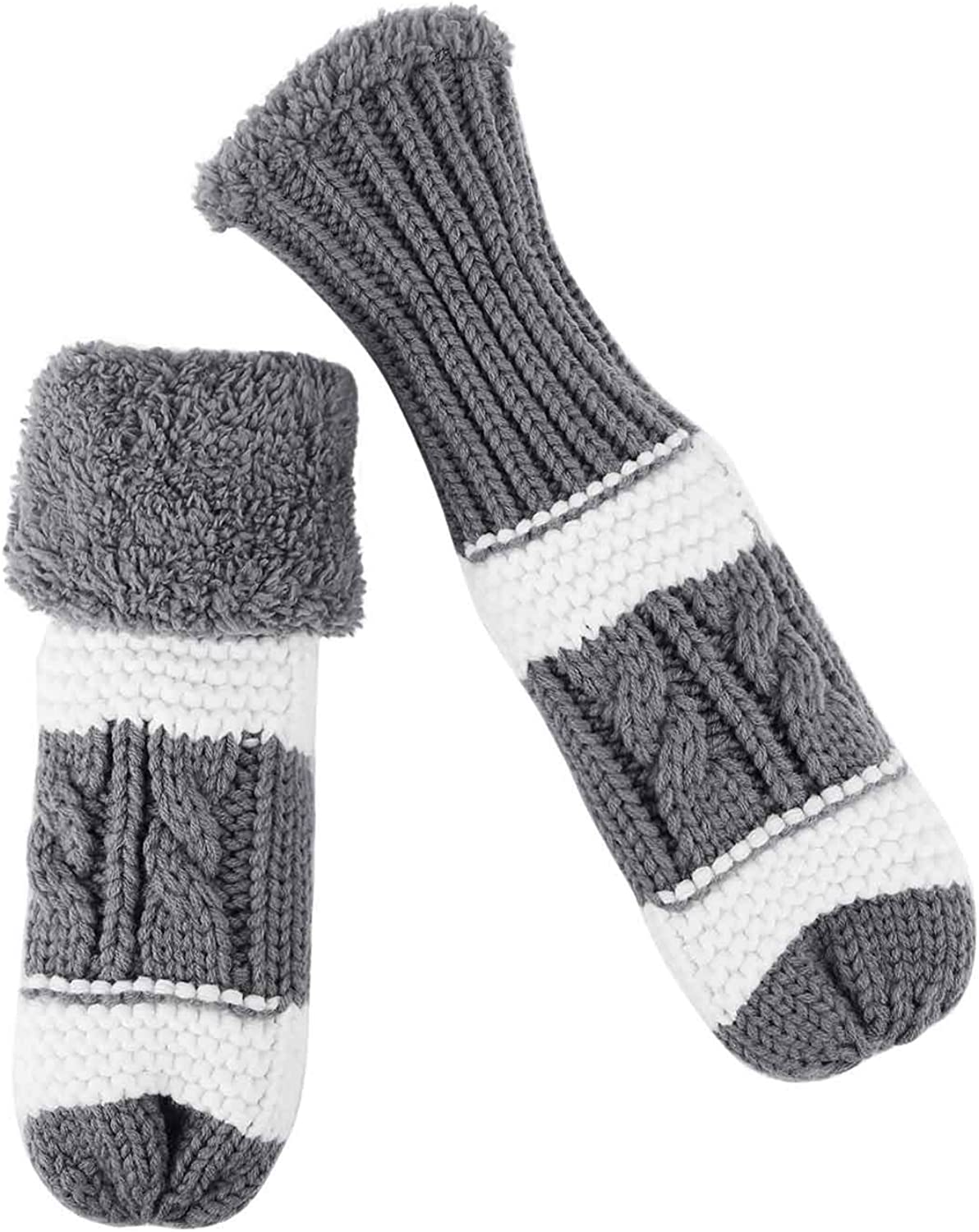Women Winter Cold Weather Warm Wool Knit Thick Plush Fleece Lined Gloves Mittens