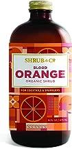 Shrub & Co Organic Blood Orange Shrub - Fruit-Driven Mixers for Cocktails, Sparklers, and Club Sodas, 16 fl. oz.