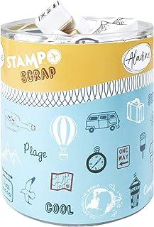 Aladine - Stampo Scrap - Kit de Tampons pour Carterie Créative - Scrap, DIY, loisirs créatifs - Set de tampons à emporter ...