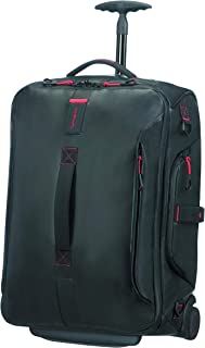 Samsonite Paradiver Light Duffle avec Wheels Backpack 55 cm, 51 L, Noir