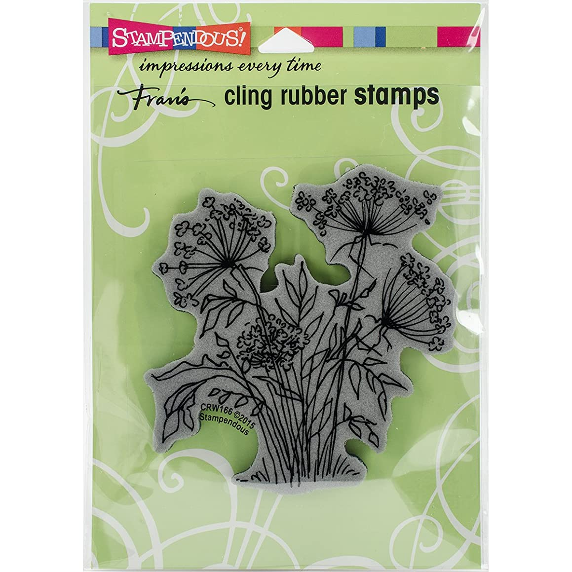 STAMPENDOUS Queen Anne's Lace Rubber Stamp Cling