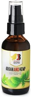 Beautify Beauties Argen Oil - Professional Salon Style Hair Elixir Argan and Hemp Oil - 2 Fl Oz