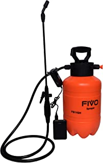 FIVO Battery Powered Sprayer and Pressure Sprayer Dual Functions for Lawn and Garden with Rechargeable 5V 2A Lithium Ion P...