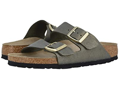 Birkenstock Arizona (Washed Metallic Stone Gold Leather) Women